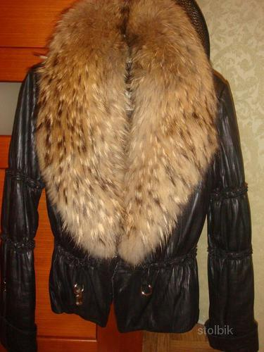кожаная зимняя куртка - Россия.