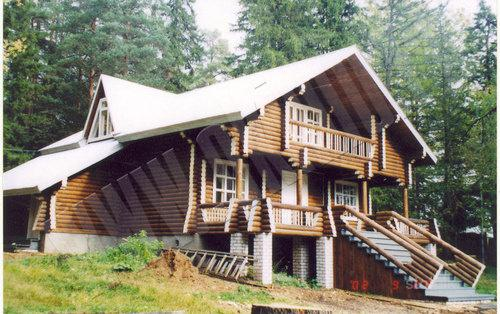 Дома из оцилиндрованного бревна киров фото