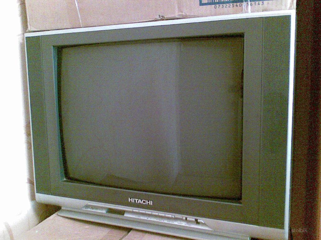 Телевизор ЭЛТ HITACHI C21 RM39S Б-У 2004 г.Эксплуатировался мало ,но вышла из строоя деталь ,требуется замена...