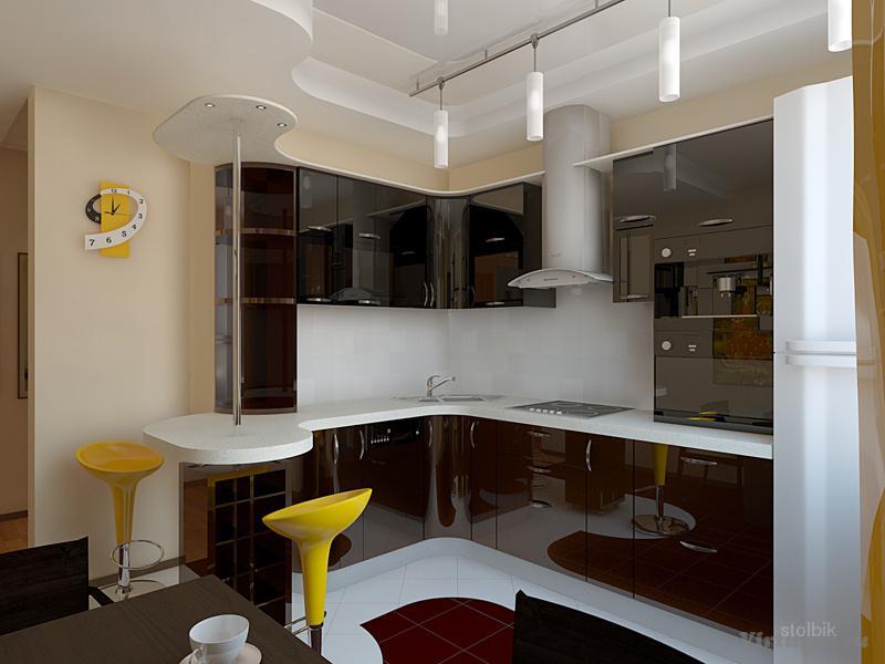 Дизайн кухни 6 кв м с выходом на балкон