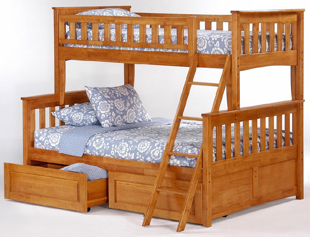 Двухъярусные деревянные кровати фото