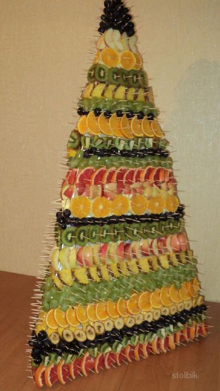 Фрукты на праздник (Фруктовая пирамида)