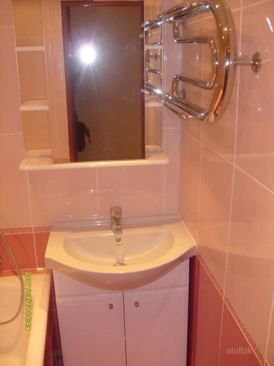 Ремонт в ванной эконом с