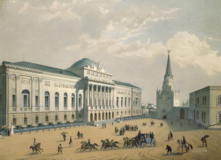 Копии (принт) гравюр с видами на Москву 18-19 веков. 120 изображений