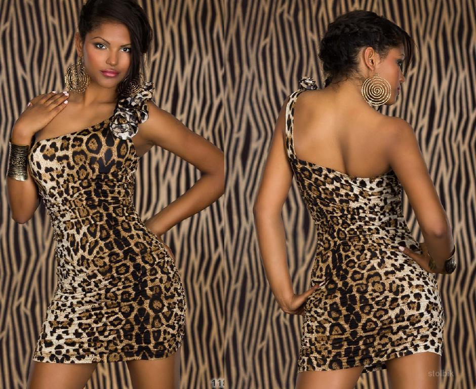 Прически к леопардовому платью 200