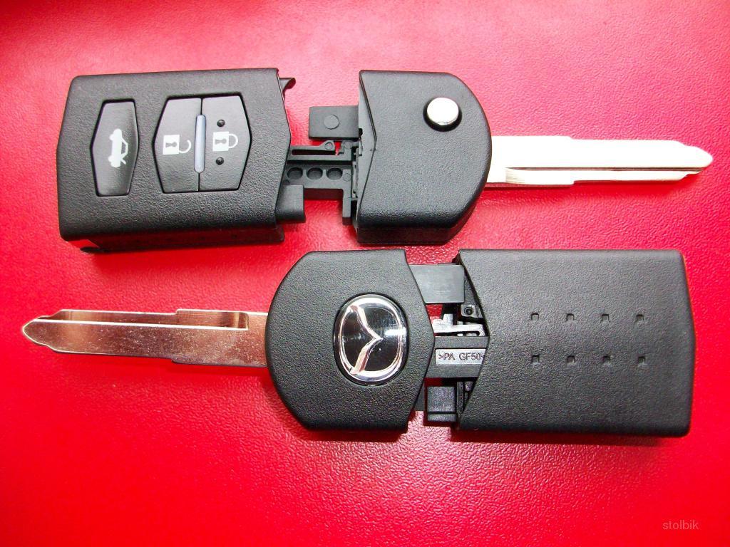 MAZDA ORIGINAL выкидной ключ (корпус) 3 - кнопки.