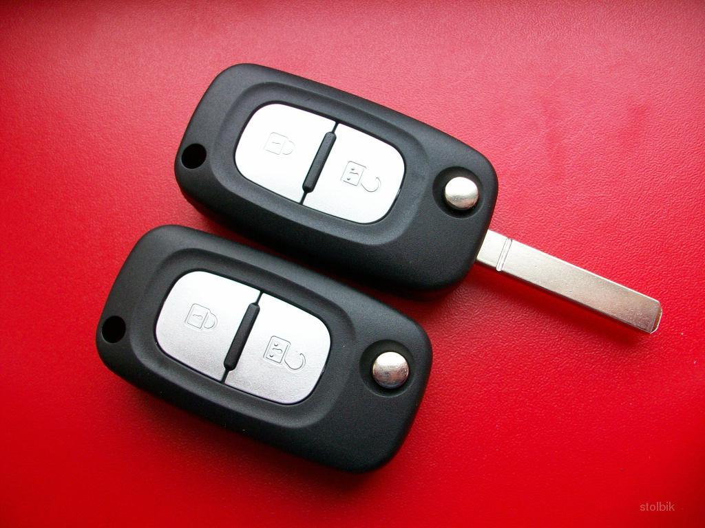 Выкидной корпус ключа Renault 2 кнопки.