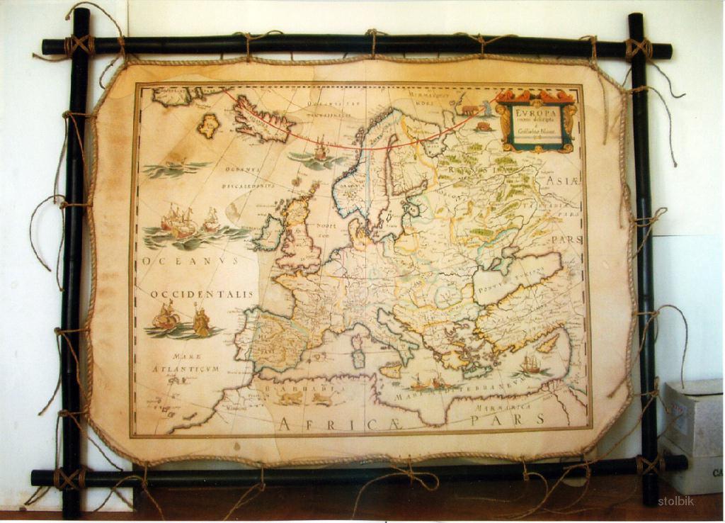 Карту мира своими руками фото