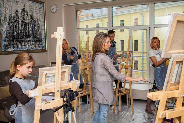 Мастер-класс по живописи фото
