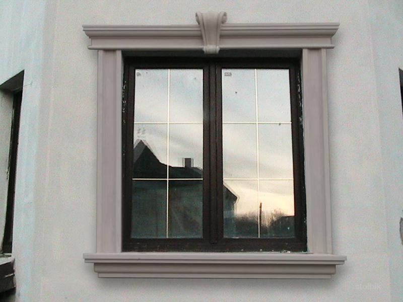 Декор для окон на фасаде
