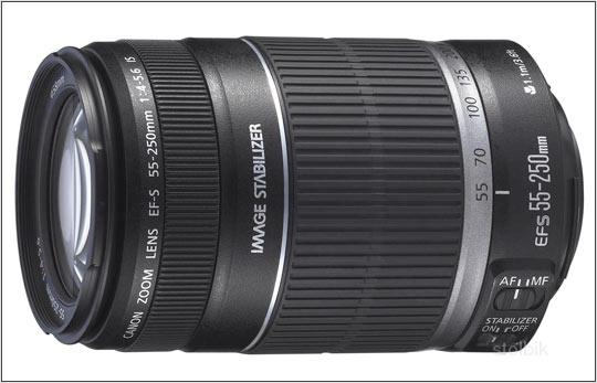 Объектив CANON EF-S 55-250 mm f/4-5.6 IS - Россия