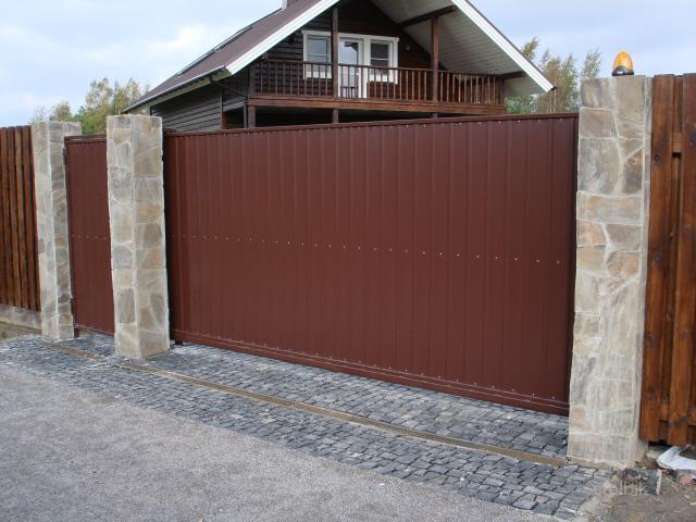 Ворота откатные автоматические обслуж ворота металлические во двор заказать херсон