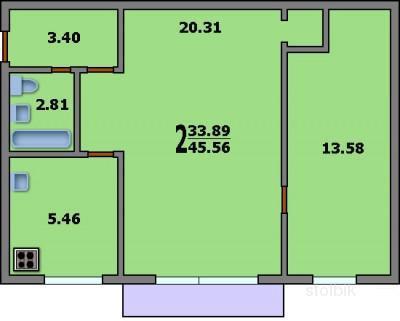 Размер балкона серия i-510 1-510.