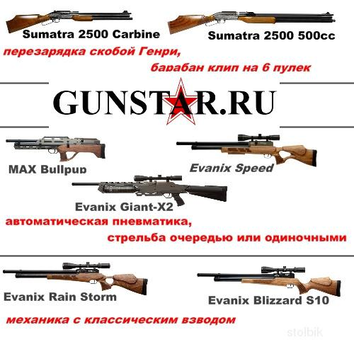 Самые мощные PCP винтовки, Sumatra 2500 и Еvanix Windy City, Hatsan BT65 и Weihrauch HW100, CZ 200S - Россия