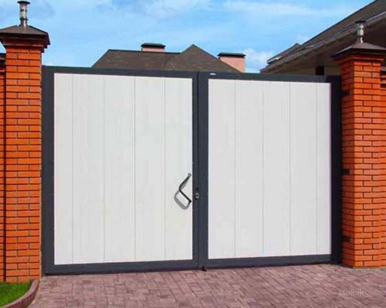 ворота гаражные металлические распашные с калиткой цена в ижевске