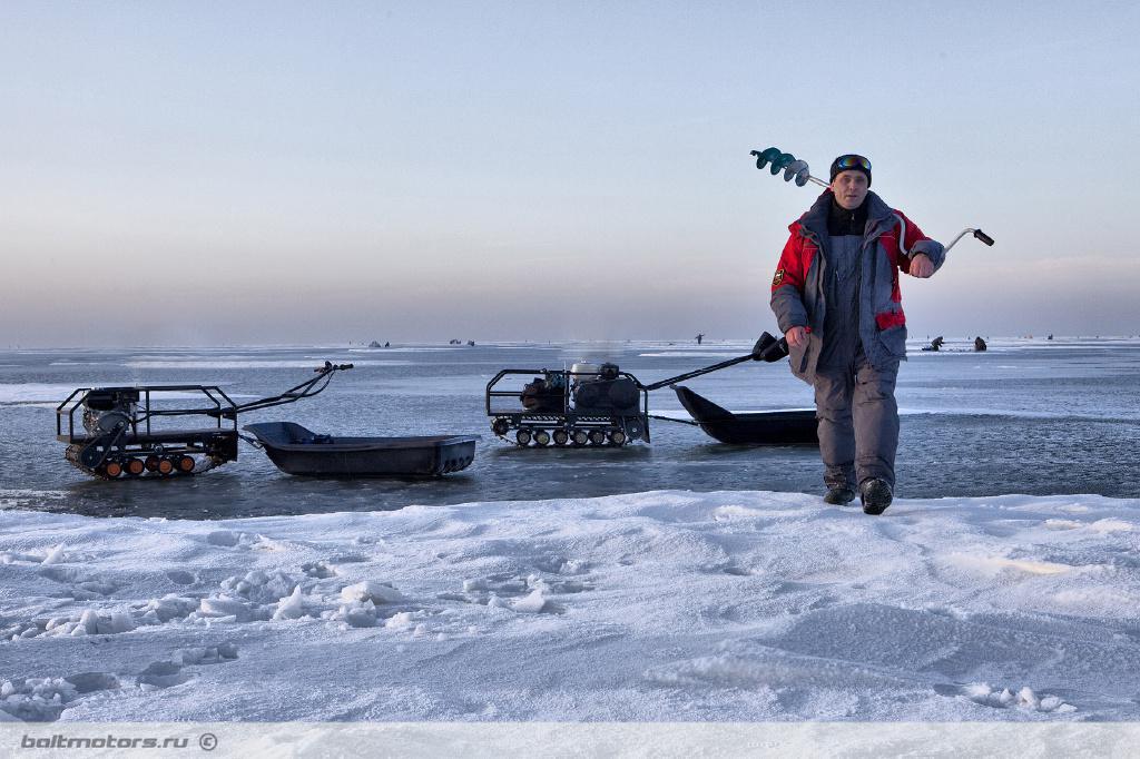 Тягач для зимней рыбалки