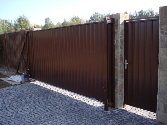 Откатные автоматические ворота в спб как самому сделать раздвижные ворота c калиткой