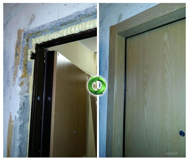 Реставрация металлических входных дверей