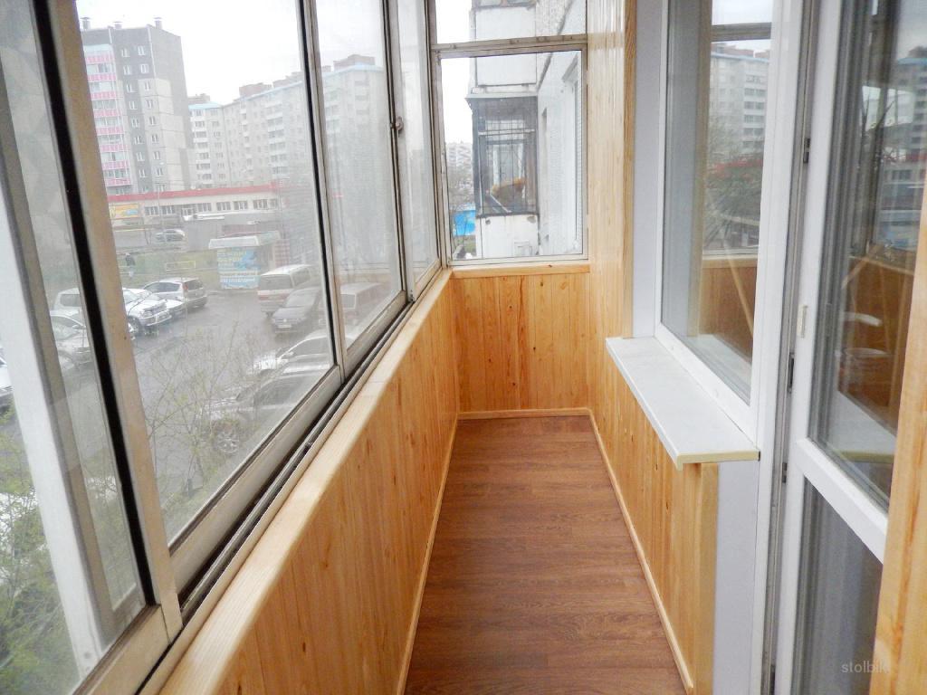Внутренняя отделка балкона, лоджии, утепление, обшивка вагон.